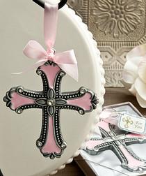 Pink Cross Ornaments