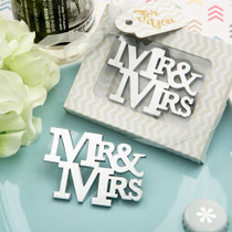 On Trend Mr. And Mrs. Silver Metal Bottle Opener