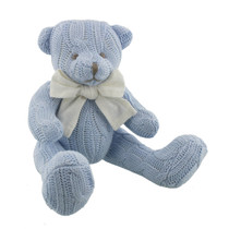 Petit Cheri Baby Collection Sitting Teddy Blue