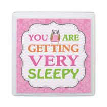 Pink Owl Sleep Nursery Sign