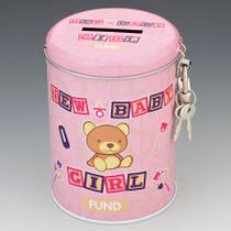 New Baby Girl Fund Tin