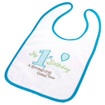 First Birthday Bib Blue