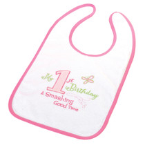 First Birthday Bib Pink