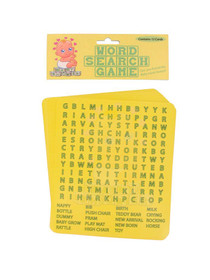 Baby Shower Word Search Game