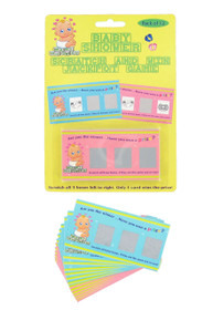 Baby Shower Scratch Card Game