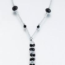 Set of 2 Bead Foot Jewellery Black