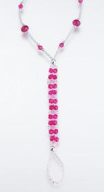 Set of 2 Bead Foot Jewellery Hotpink