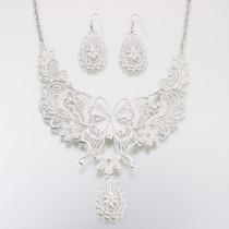 Butterfly Jewellery Set Silver