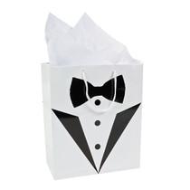 12 x Medium Wedding Tux Gift Bags