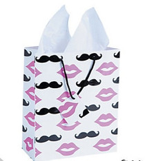 12 x Moustache And Lips Gift Bag