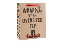 Large 'Wrapped By An Oversized Elf' Gift Bag