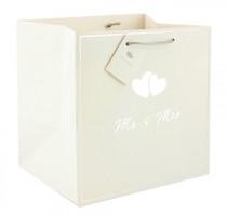 Pack of 12 Mr. And Mrs. Gift Bag Medium