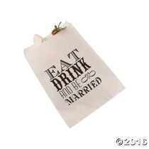 50 x Eat, Drink And Be Married Cake Bags
