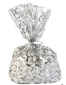 12 x Silver Swirl Cellophane Bags