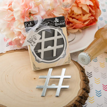 Hash Tag Love Collection Chrome Finish Silver Metal Bottle Opener