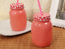 Rustic Country Comfort Pink Mason Jar Favour