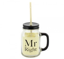 Mr. Right Mason Jar