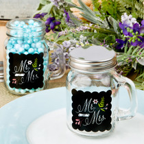 Sayings Collection Mr. And Mrs. Design Glass Mason Jar