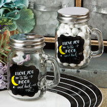 Sayings Collection 'I Love You To The Moon And Back' Glass Mason Jar