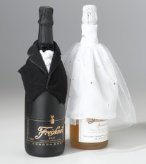 Bride And Groom Bottle Cover Set