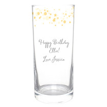 Personalised Gold Stars Hi Ball Glass