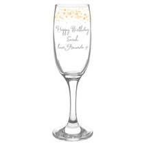 Personalised Gold Stars Glass Flute