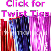 Metallic Twist Ties for cone bags