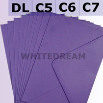 Purple Envelopes - C7, C6, C5, DL, 5'x7' Sizes