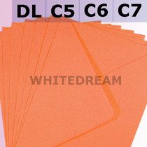Orange Envelopes - C7, C6, C5, DL, 5'x7' Sizes