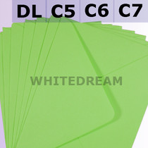 Bright Green Envelopes - C7, C6, C5, DL, 5'x7' Sizes