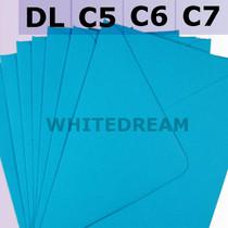 Kingfisher Blue Envelopes - C7, C6, C5, DL, 5'x7' Sizes