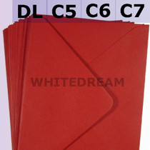 Crimson Red Envelopes - C7, C6, C5, DL, 5'x7' Sizes