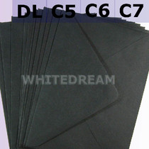 Black Envelopes - C7, C6, C5, DL, 5'x7' Sizes