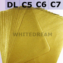 Gold Metallic Envelopes - C7, C6, C5, DL, 5'x7' Sizes