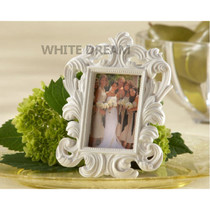 White - Elegant Baroque Photo Frame