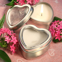 Light For Love Collection Heart Candle Favour Tins