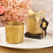 Bling Collection Gold Glitter Candle Votive