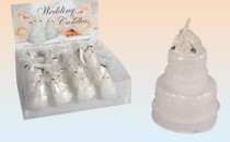 White Wedding Cake Candle