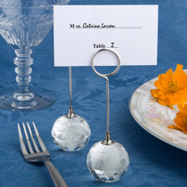 Choice Crystal Collection Crystal Ball Place Card Holders