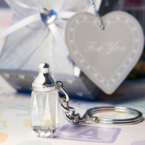 Choice Crystal Collection Baby Bottle Design Key Chain Favours