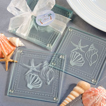 Beach Themed Glass Coaster Favours