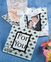 Fleur Des Design Glass Photo Coasters
