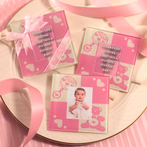 Baby Girl Glass Photo Coasters