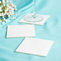 Perfectly Plain Collection Milky White Glass Coasters