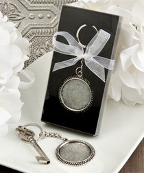 Perfectly Plain Collection Pewter Metal Key chains