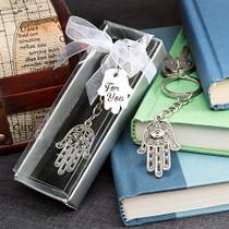 Hamsa Design Metal Hand Key Chain