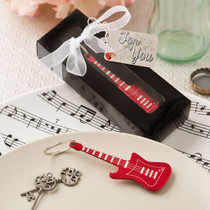 Classic Red Electric Metal Guitar Key Chain