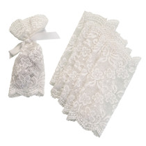 Set of 6 Lace Favour Bags Ivory