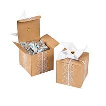 12 x Cardboard Pinwheel Favour Boxes