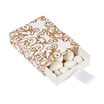 12 x Gold Wedding Pull Favour Boxes